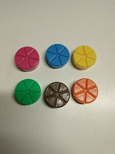 Trivial Pursuit 20th Anniversary Edition Replacement Game Pieces - Wedges Pies