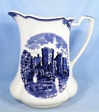 Johnson Bros Old Britain Castles Pitcher Blue Transfer Ragland Raglan Castle