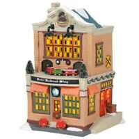 Department 56 Christmas in the City Village Model Railroad Shop Building 6005384