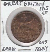 *(T) World Coin - Great Britain - 1915 XF - One Penny