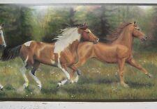 """HORSES RUNNING Wallpaper Border 8 3/8"""""""