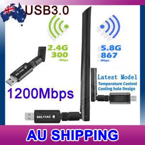 AC1200 USB 3.0 WiFi Wireless Adapter Dongle 802.11ac 5GHz Dual Band 11AC