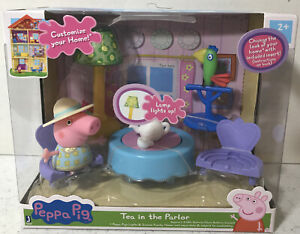 Peppa Pig Tea In The Parlor Playset with Light Up Lamp & Parrot