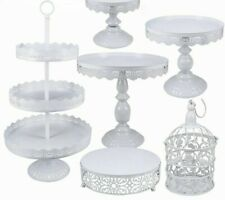 3 Tier Cake Plate Stand Tray Wedding Birthday Party Cupcake Display Tower Set