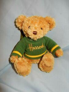 "Harrods Knightsbridge Plush Teddy bear in Green Shirt 8"""