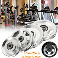 73/95/110/114mm Aluminum Bearing Pulley Wheel Cable Gym Fitness Equipment Parts