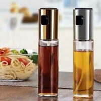 Olive Pump Spray Bottle Oil Sprayer Glass Pot Kettle BBQ Kitchen Tool Cooki Y3Q1