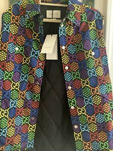 NWT Gucci Psychedelic Vest - IT Size 44 590785 Authentic