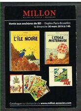 Tintin - Millon Maison de Ventes - 2014 - Carte Postale Neuve.