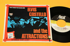 """ELVIS COSTELLO & ATTRACTIONS 7"""" I CAN'T STAND UP......1°ST ORIG ITALY 1980 MINT"""