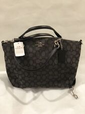 New Coach F58283 Signature Small Kelsey Shoulder Crossbody Bag Black/Smoke