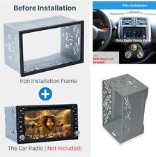 2 Din Car Dash Trim DVD MP5 Player Metallkäfig Montagerahmen Installationskit
