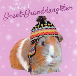 'GREAT GRANDDAUGHTER' CHRISTMAS GREETING CARD - QUALITY - FREE P&P