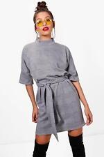 ec9054bc2590 Boohoo Vi High Neck Kimono Sleeve Formal Mini Dress Size 6 BNWT RRP £21.99  Grey