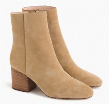 NEW JCrew $178 Sadie Ankle Boots in Suede 8M  Melted Carmel Tan Shoes K0039