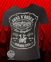 New Guns N Roses Paradise City Los Angeles Classic Retro T-Shirt