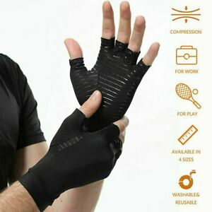 1 PAIR Copper Arthritis Compression Gloves Hand Support Joint Pain Relief USA