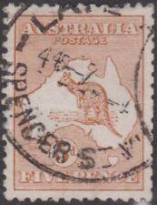 Australia Kgv 1913 5d Kangaroo Sc7 Sg8 Used cv £32