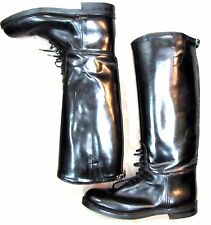 NEW! DEHNER Omaha! Mens Black Stock Laced Patrol or Riding Boots 11.5D
