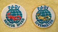 New listing Padi Rescue Diver & Divemaster Scuba Patches - as pictured