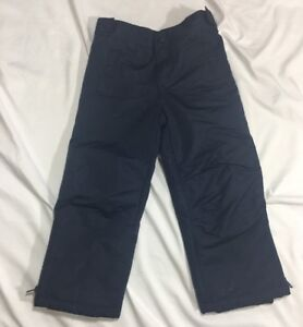 Boys Gymboree Fleece Lined Snow Ski Pants Navy Blue Size 4