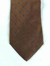 Brooks Brothers 100% Silk Neck Tie Bronze/Orange Tone Paisley Embroidery