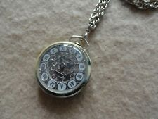 Swiss Made Alcor Deluxe Mechanical Wind Up Necklace Pendant Watch