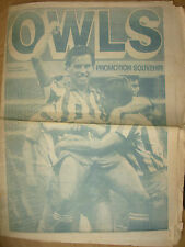 NEWSPAPER SHEFFIELD WEDNESDAY STAR SUPPLEMENT  1984 PROMOTION SOUVENIR