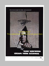 """ESCAPE FROM ALCATRAZ PP SIGNED 12""""X8"""" POSTER C EASTWOOD"""