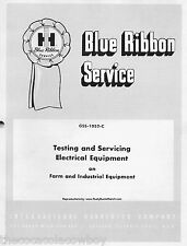 Ih Farmall Tractors Electrical Equipment Service Testing Manual # Gss-1052-C