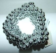 Multi Strand Silver Tone Beaded Stretch Bracelet NWT