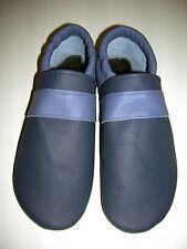 Exclusiv talla 38, azul/jeans azul, zapatillas de casa, cuero, no-name, medium