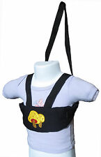 New baby/toddler walking safety harness, soft,  Black