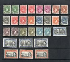NIGERIA 1938 KGVI DEFINITIVE SET + PERFS SG;49-59C MM 29 STAMPS CAT £180