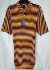 Dunning Golf Bar Stripe Print Polo Shirt Cotton Poly Stretch MSRP $89 NWT - sz L