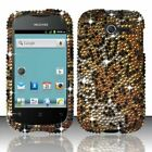 For Huawei Ascend Y H866C Crystal Diamond BLING Hard Case Phone Cover Cheetah
