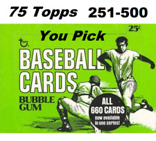 1975 Topps (YOU PICK) Cards 251 - 500, EX to EX-MT **Combined Shipping Rates**