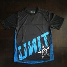 Unit Riding Gear Blade MTB Jersey - Black / Blue Mountain Bike Jersey NWT SZ MED