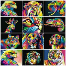 Paint By Numbers Kit Wild Animals 50x40cm - Oil Painting Canvas, Paint & Brushes