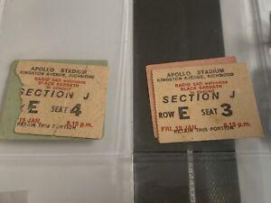 2x 1973 BLACK SABBATH Concert Ticket Stub Apollo Adelaide South Australia