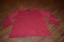 F0- Willi Smith Maroon 3/4 Length Sleeve Top Size S