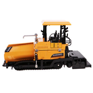 1:40 Alloy Vehicle Model Child Tracked Paver Engineering Series Car Yellow
