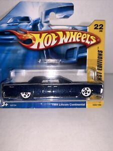 HOT WHEELS 2007 FIRST EDITIONS 1964 LINCOLN CONT VHTF SHORT CARD 5SP WHEELS