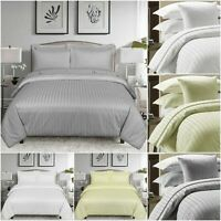 Grey Cream White Duvet Quilt Cover 3 Piece Bedding Set with 2 Matching Pillows