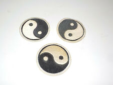 Lot of 3 True Vintage 1970s Yin Yang Patch Black White NOS From USA