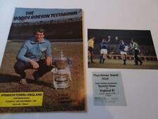 More details for ipswich town fc bobby robson 1979 testimonial programme & ticket + george best
