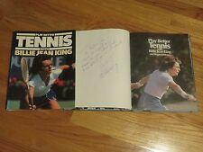 Tennis HOFer BILLIE JEAN KING signed PLAY BETTER TENNIS 1981 Book RUTH & DON