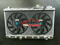 Alu Radiator + FAN For Honda CRV CR-V RD1-RD3 2.0L 16V B20B/B20Z L4 1997-2001 AT