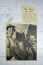 1949 Tyrone Power With His Wife Linda Christian Landing Northolt Airport