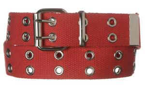 "1-1/2"" Men's/Women's Double Eyelet/Grommet 100% Heavy Cotton Canvas Utility Belt"